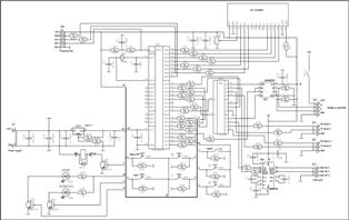 Принципиальная электрическая схема контроллера управления поворотным устройством