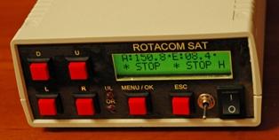 Передняя панель с органами управления контроллером поворотного устройства