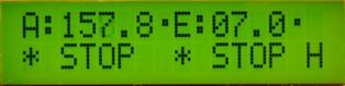 Вид дисплея контроллера в ручном режиме управления