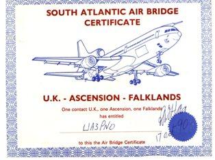 « South Atlantic Air Bridge Certificate » award