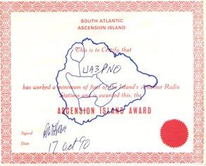 « Ascension island award » award