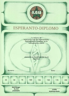 « Esperanto Diploma » award